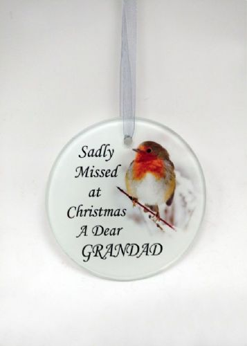 Grandad Glass Memorial Tree Hanger